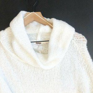 Free People BFF Sweater XL Ivory Cowl Neck Drop